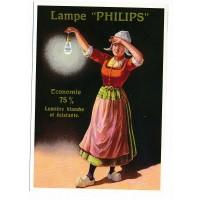 Carte Postale 10x15 - Lampe philips - Centenaire Editions