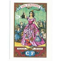 Carte Postale 10x15 - Fil de Lin qualité supérieur - Floriscope