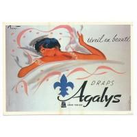 Carte Postale 10x15 - Reveil en beauté draps agalys - Editions F.Nugeron