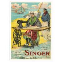 Carte Postale 10x15 - Machine a coudre Singer - Centenaire Editions