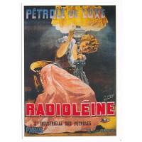 Carte Postale 10x15 - Radioleine petrole de luxe - claude aubert editeur