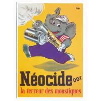 Carte Postale 10x15 - Neocide ddt la terreur des moustiques - Editions Clouet