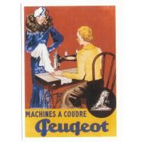 Carte Postale 10x15 - Machine à coudre Peugeot - Centenaire Editions