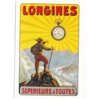 Carte Postale 10x15 - Longines supérieure a toutes - L'avion Postale