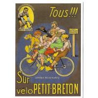 Carte Postale 10x15 Vélo Petit Breton - Centenaire Editions