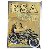 Carte Postale 10x15 Moto BSA Tole serigraphiee - Centenaire Editions