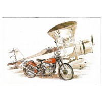 Carte Postale 10x15 Bike and Air plane - Editions Orpheograff