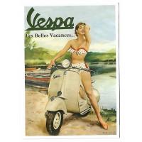 Carte Postale 10x15 Vespa les belles vacances 1955 - Centenaire Editions