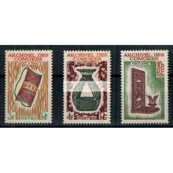 Timbres des Comores - Numéro 29 à 31 - Neuf avec charnière