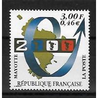 Timbre de Mayotte - Numéro 80 - Neuf sans Charnière