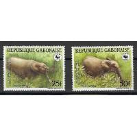 Timbre du Gabon - Numéro 640 & 642 - Neuf sans Charnière