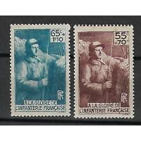 France - Numéro 386 à 387 - Neuf avec Charnière