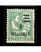 Ventes de Timbres sur les Anciennes Colonies Françaises - Alexandrie, Alandrette...