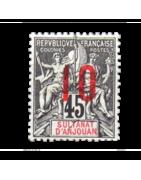 Ventes de Timbres sur les Anciennes Colonies Françaises - Sultanat d'Anjouan, Madagascar, Chine...
