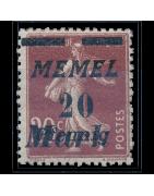 Ventes de Timbres des Anciennes Colonies Françaises - Memel, Vente en cours...