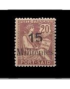 Ventes de Timbres sur les Anciennes Colonies Françaises - Port Said, Lattaquie...