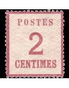 Timbre d'Alsace Lorraine Neuf, Oblitéré, Charnière, Gomme