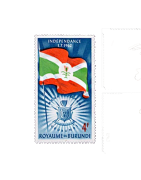 Timbre du Burundi Neuf, Oblitéré, avec charnière