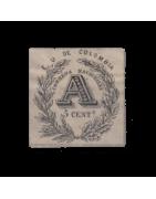 Timbre de Colombie Neuf, Oblitéré, avec charnière