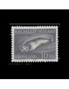 Timbre du Groenland Neuf, Oblitéré, Charnière, Gomme