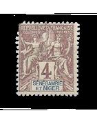 Ventes de Timbres sur les Anciennes Colonies Françaises - Sénégambie et Niger...
