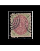 Timbre des Antilles Danoises Neuf, Oblitéré, Charnière, Gomme