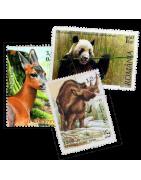 Ventes de Timbres Thématiques, Animaux, Insectes, Oiseaux, Bateaux, Voitures, Sports, Insectes, Fleurs...