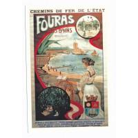 Carte Fouras les bains chemin de fer de l'état - Edition Marcou