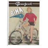 Cartes Postales 10x15 - peugeot cyclomoteur bima - Centenaire Editions